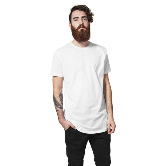 Urban Classics Shaped Long Tee, white 2XL
