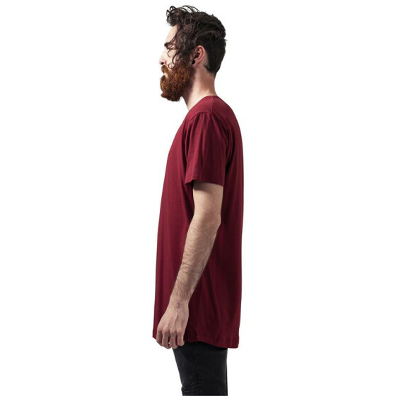 Urban Classics Shaped Long Tee, burgundy L