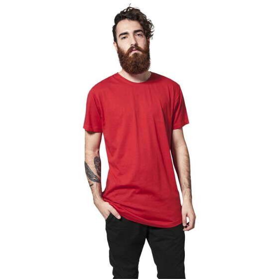Urban Classics Shaped Long Tee, fire red  S