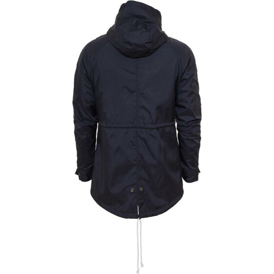 Urban Classics Long Nylon Windbreaker, navy/ruby/wht M