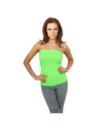Urban Classics Ladies Neon Strapless Top, neongreen M