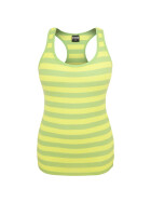 Urban Classics Ladies Stripe Tanktop, neongreen/neonyellow XS