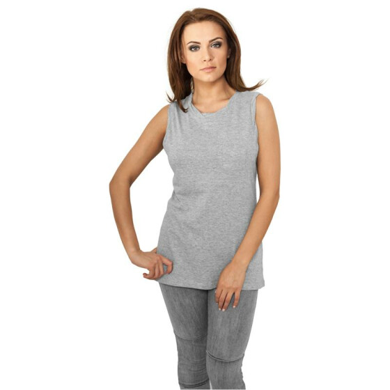 Urban Classics Ladies Sleeveless Pocket Tee, grey M