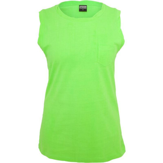 Urban Classics Ladies Sleeveless Pocket Tee, neonorange XS