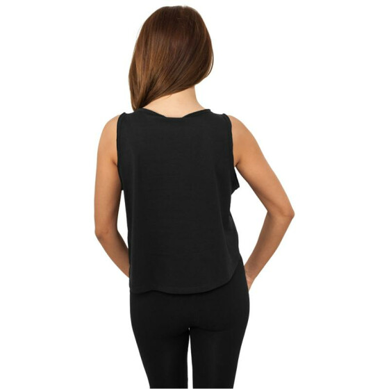 Urban Classics Ladies Open Edge Short Tee, black L