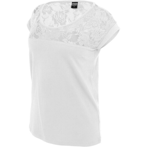 Urban Classics Ladies Top Laces Tee, white L