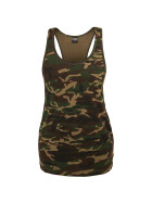 Urban Classics Ladies Camo Loose Tank, wood camo L