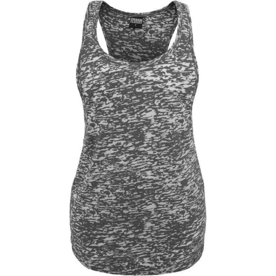Urban Classics Ladies Melange Burnout Loose Tank, darkgrey M