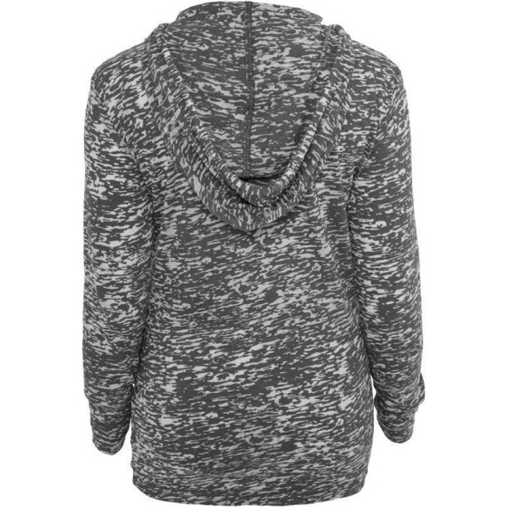 Urban Classics Ladies Melange Burnout Hoody, darkgrey L