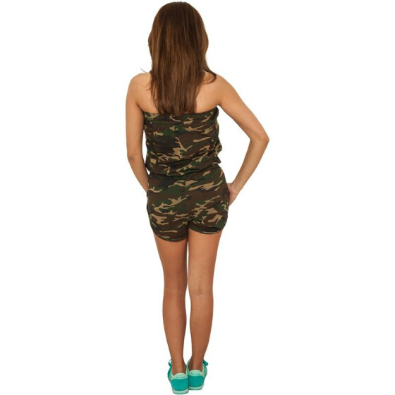 Urban Classics Ladies Camo Hot Jumpsuit, wood camo M