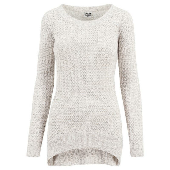 Urban Classics Ladies Long Wideneck Sweater, offwhite M