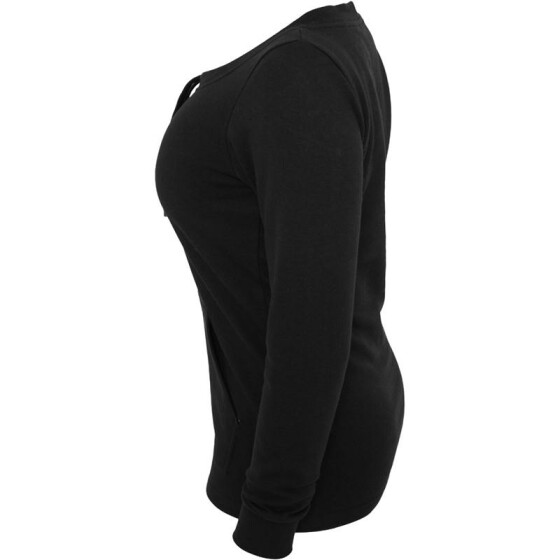 Urban Classics Ladies Wideneck Pocket Crew, black L