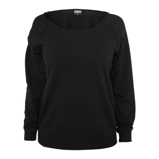 Urban Classics Ladies Open Edge Crewneck, black XS