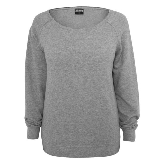 Urban Classics Ladies Open Edge Crewneck, grey S