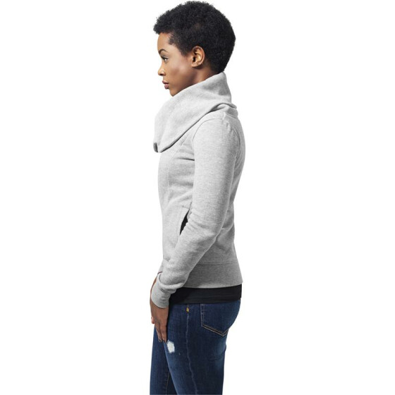 Urban Classics Ladies Asymetric Zip Jacket, grey L