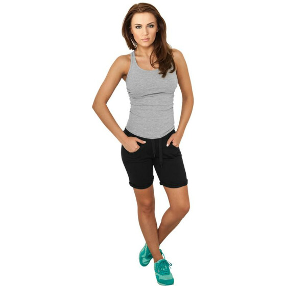 Urban Classics Ladies 5 Pocket Sweatshorts, black XL