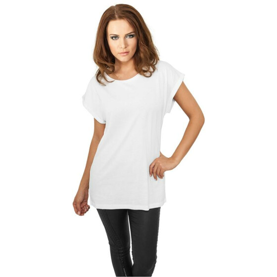 Urban Classics Ladies Extended Shoulder Tee, white L