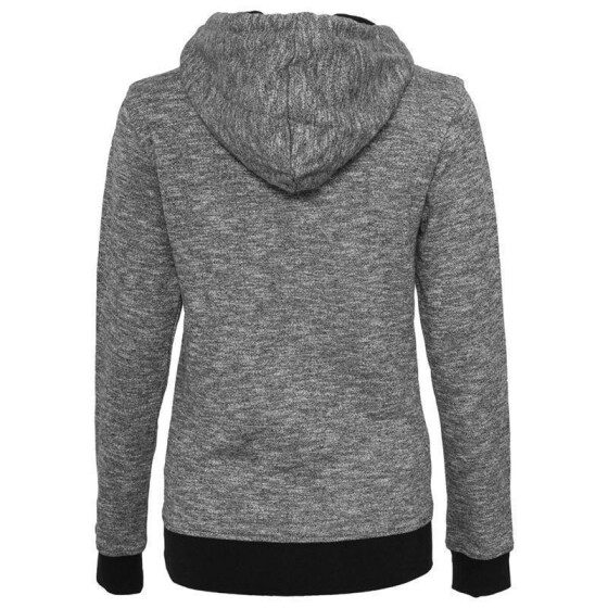 Urban Classics Ladies High Neck Hoody, blk/wht XS