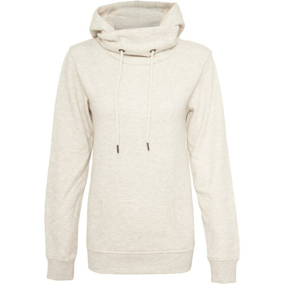 Urban Classics Ladies High Neck Hoody, offwhite L