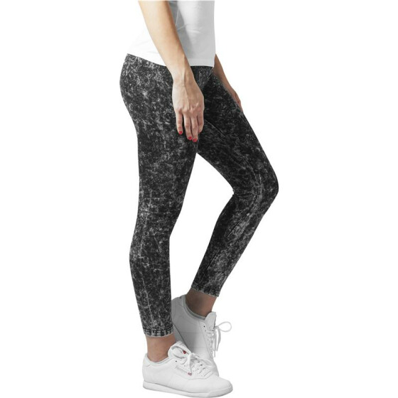 Urban Classics Ladies Acid Wash Leggings, darkgrey XS
