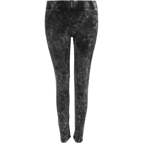 Urban Classics Ladies Acid Wash Leggings, darkgrey XL