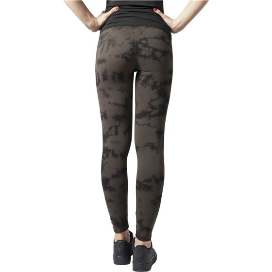Urban Classics Ladies Acid Wash Splash Leggings, blk/gry L