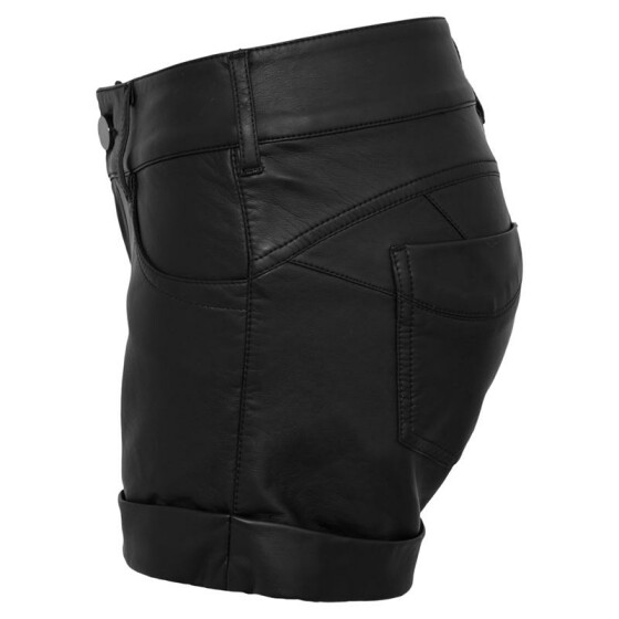 Urban Classics Ladies Imitation Leather Hot Shorts, black M