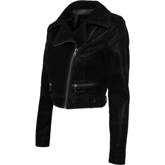 Urban Classics Ladies Short Biker Jacket, black M