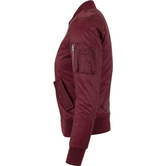 Urban Classics Ladies Basic Bomber Jacket, burgundy S