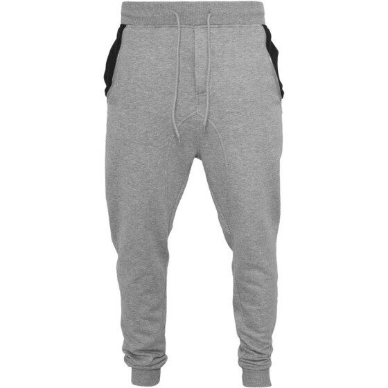 Urban Classics Side Zip Contrast Pocket Sweatpant, gry/blk XL