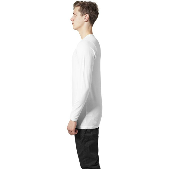 Urban Classics Fitted Stretch L/S Tee, white XXL