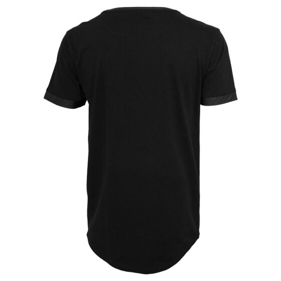 Urban Classics Long Shaped Leather Imitation Tee, blk/blk M