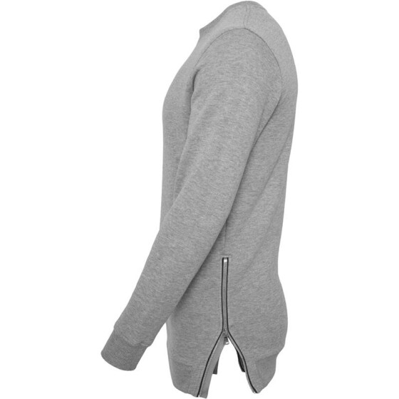 Urban Classics Side Zip Crew, grey XL