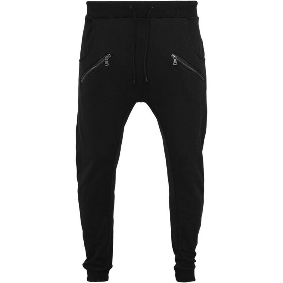 Urban Classics Zip Deep Crotch Sweatpants, black M