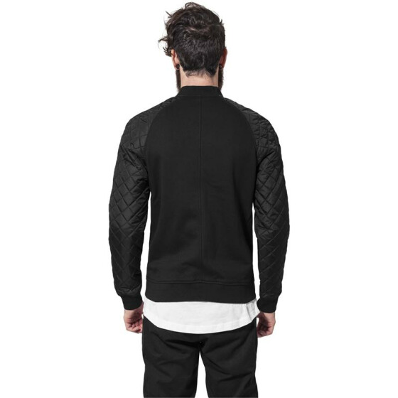 Urban Classics Diamond Nylon Sweatjacket, blk/blk XL