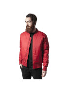Urban Classics Basic Bomber Jacket, fire red  XL