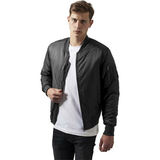 Urban Classics Basic Bomber Jacket, cool grey XXL