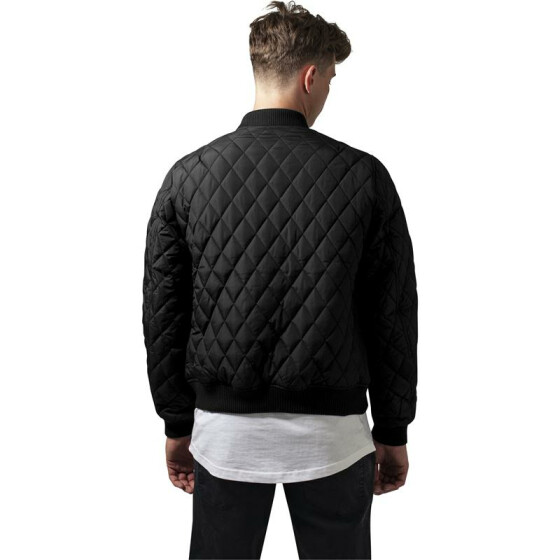 Urban Classics Diamond Quilt Nylon Jacket, black XL