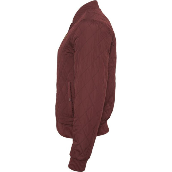 Urban Classics Diamond Quilt Nylon Jacket, burgundy S