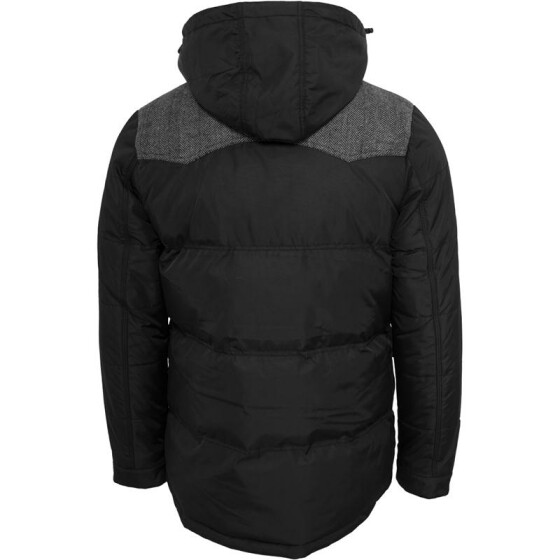 Urban Classics Material Mixed Winter Jacket, blk/gry S