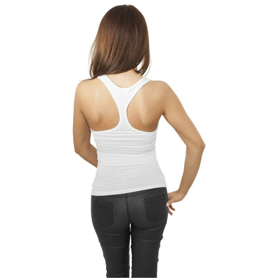 Urban Classics Ladies Fitted Viscon Racerback Tank, white S