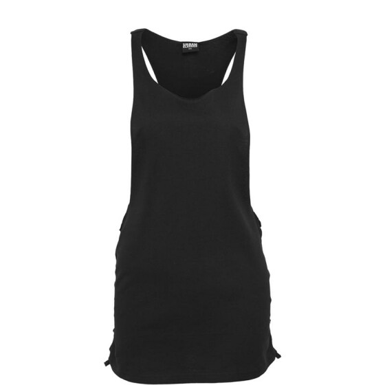 Urban Classics Ladies Side Knotted Loose Tank, blk/blk L