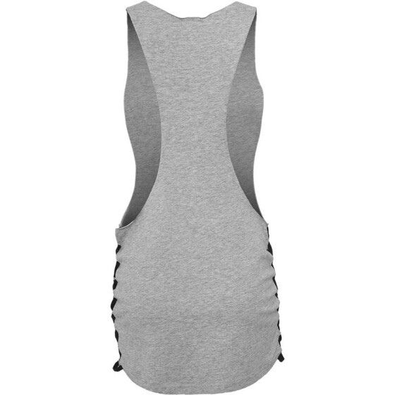 Urban Classics Ladies Side Knotted Loose Tank, gry/blk M