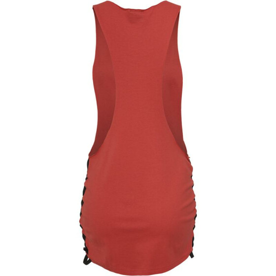 Urban Classics Ladies Side Knotted Loose Tank, red/blk XL
