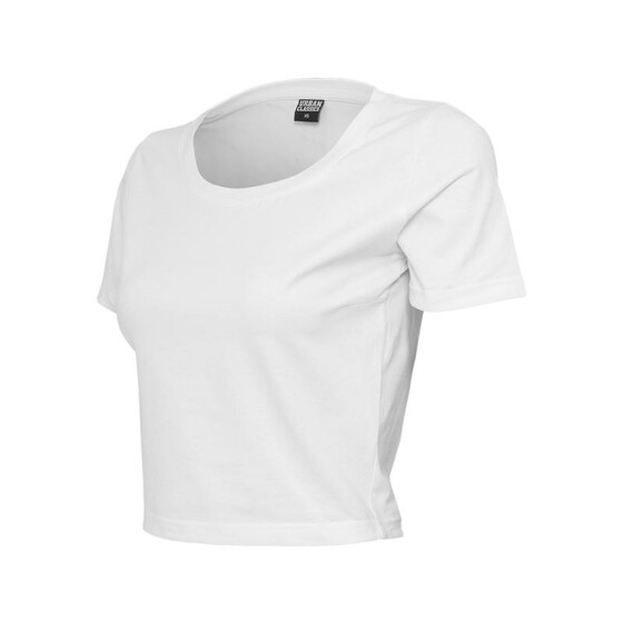 Urban Classics Ladies Cropped Tee, white M