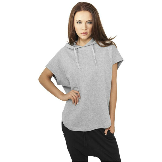 Urban Classics Ladies Sleeveless Terry Hoody, grey XS