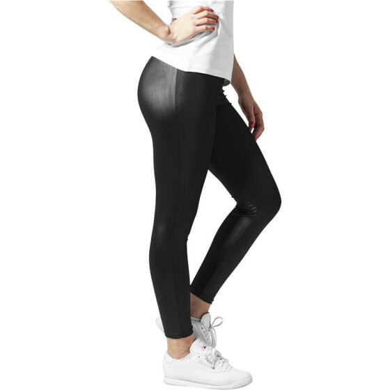 Urban Classics Ladies Leather Imitation Leggings, black S