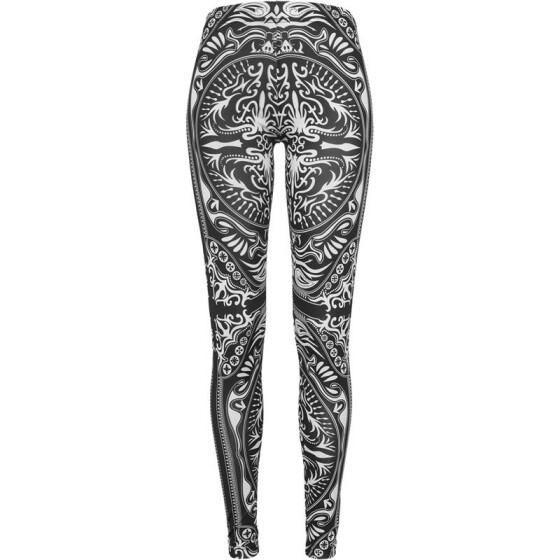 Urban Classics Ladies Ornament Leggings, blk/wht S