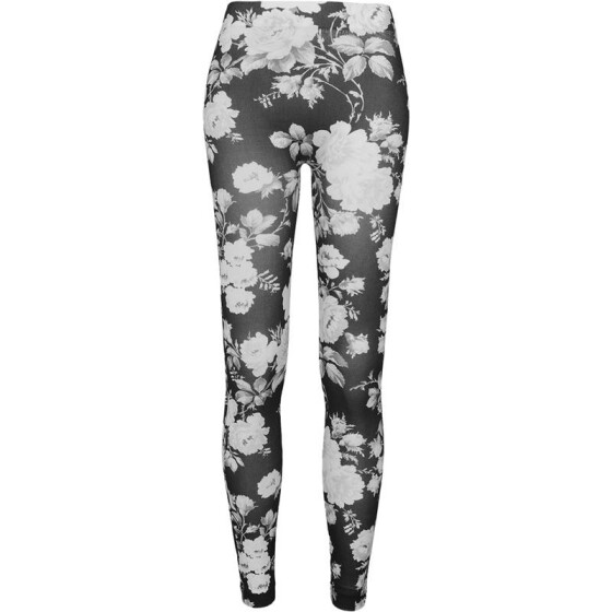 Urban Classics Ladies Flower Leggings, wht/floral XL