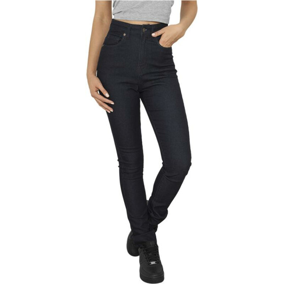 Urban Classics Ladies High Waist Denim Skinny Pants, raw blue denim 28